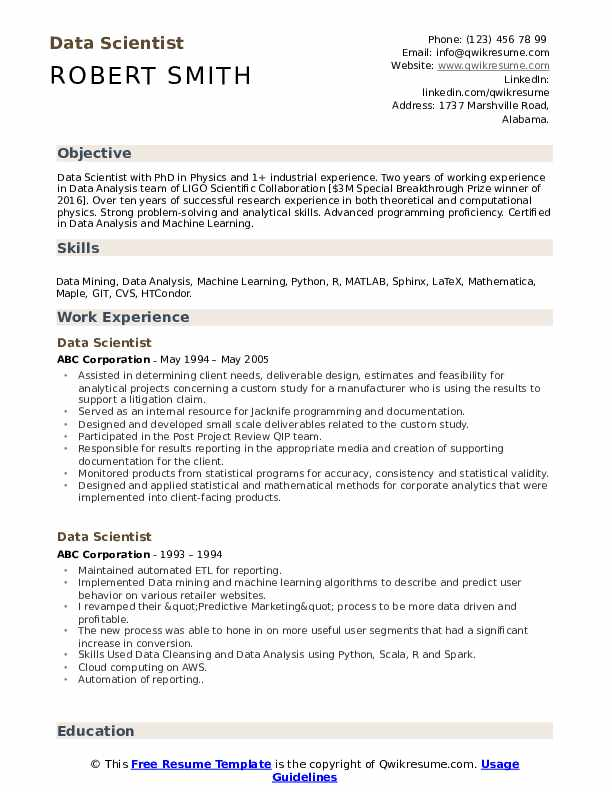 finish your resume with short professional summary data scientist template management Resume Finish Your Resume With A Short Professional Summary