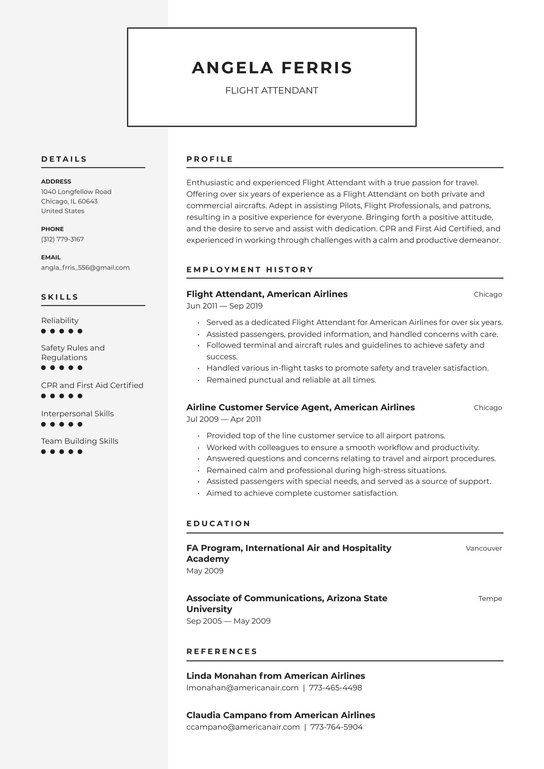 flight attendant resume examples writing tips free guide best new format lawn care job Resume Best Flight Attendant Resume