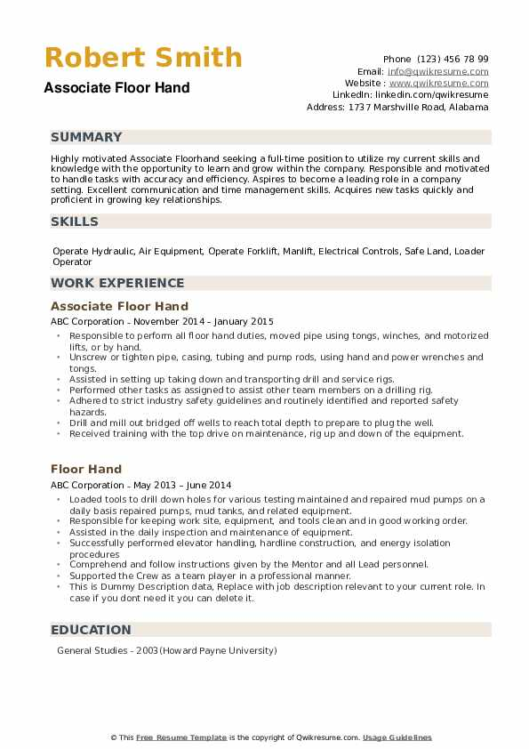 floor resume samples qwikresume free oil and gas templates pdf making film estimator make Resume Oil & Gas Resume Samples