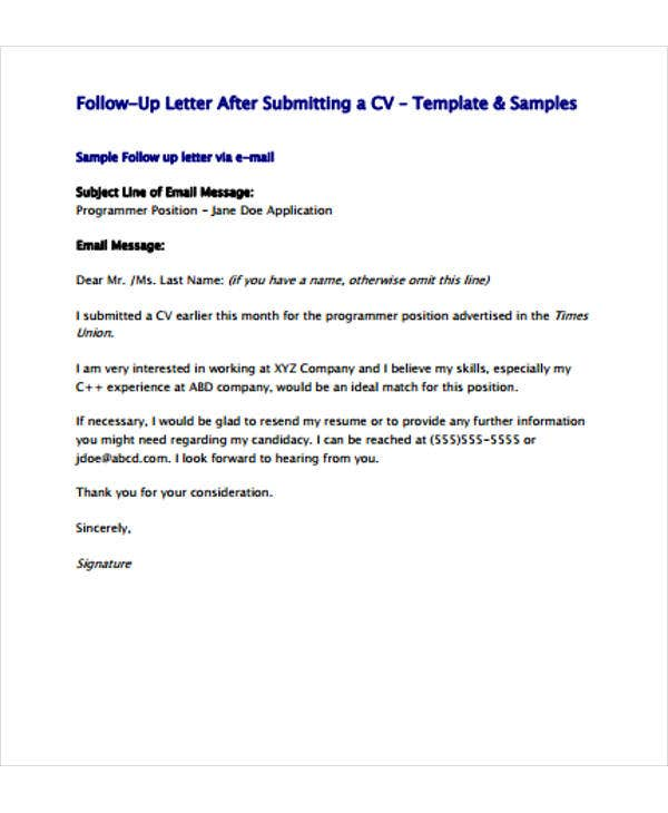follow up letter template free sample example format premium templates resume after Resume Follow Up Sample Email After Resume