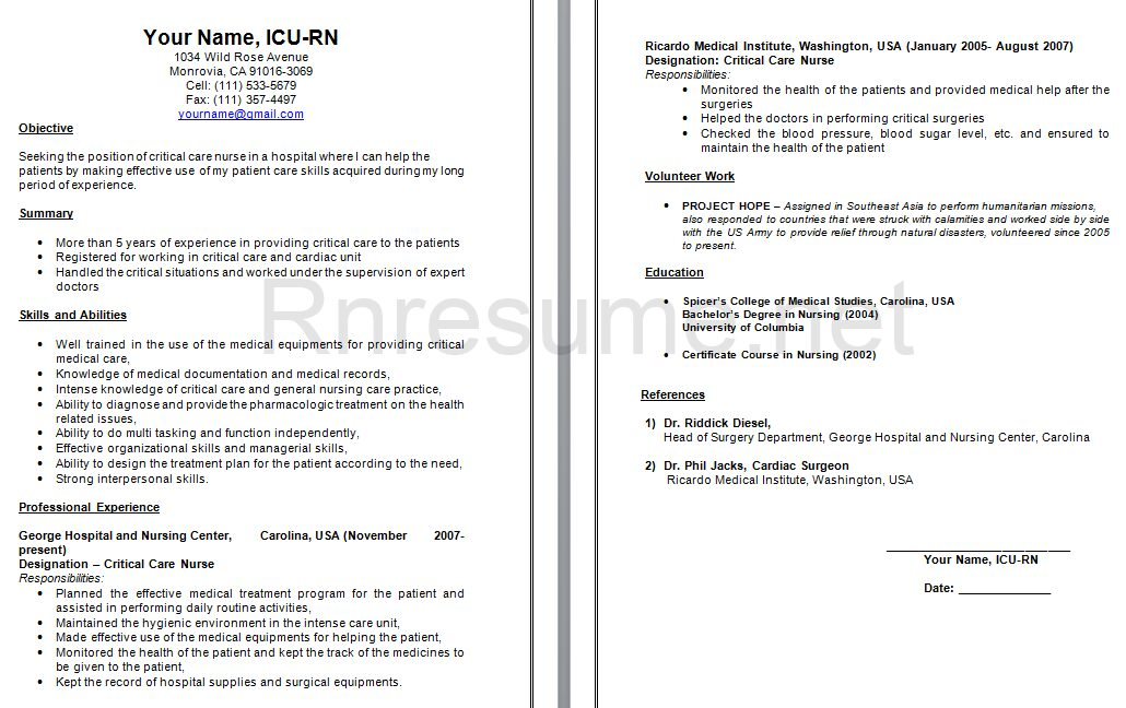 for icu nursing resume samples format sample nurse 1030x648 best administrative assistant Resume Sample Icu Nurse Resume