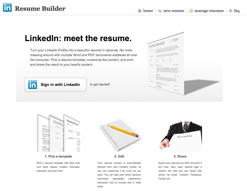 free apps for linkedin you need to know hongkiat resume generator builder upholstery job Resume Linkedin Resume Generator Free