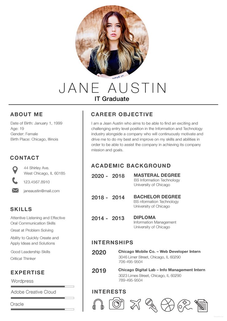 free basic fresher resume cv template in photoshop and microsoft creativebooster Resume Fresher Resume Templates Word