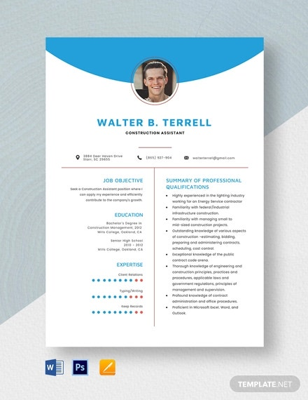 free construction resume templates pdf premium for microsoft word assistant template Resume Construction Resume Templates For Microsoft Word