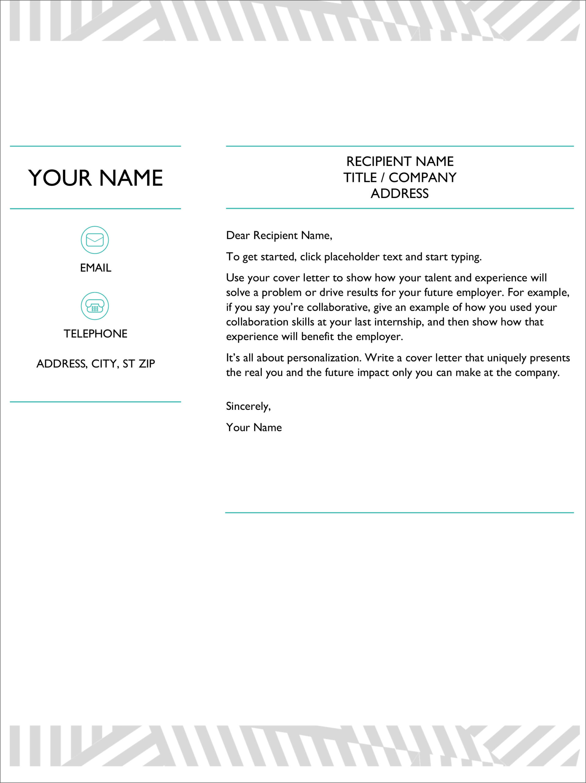 free cover letter templates for microsoft word and google docs resume template career Resume Cover Letter And Resume Template Google Docs