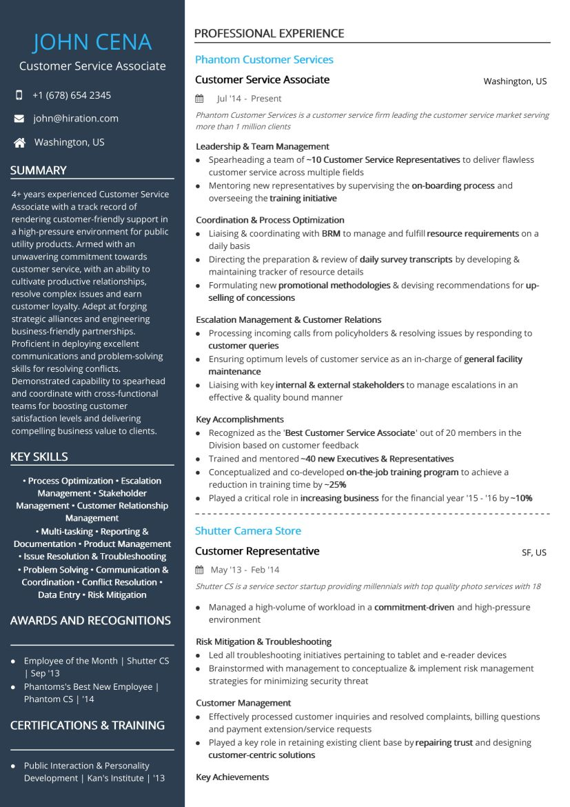 free customer service associate resume sample by hiration centric ccu rn cnet software Resume Customer Centric Resume