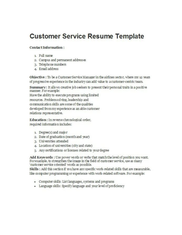 free customer service resume examples template downloads words for beginner objective Resume Resume Words For Customer Service