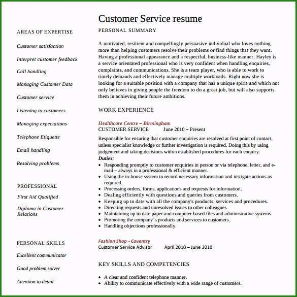 free customer service resume template and to use it resume101 org skills on for Resume Skills To List On Resume For Customer Service