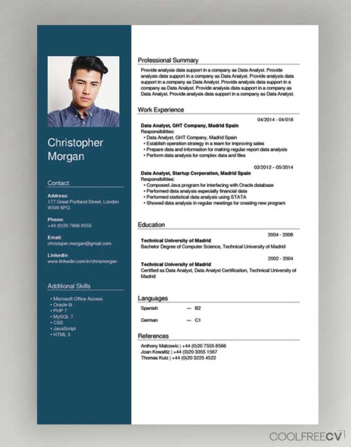 free cv creator maker resume builder pdf type english example wizard accounts receivable Resume Type Resume Online Free