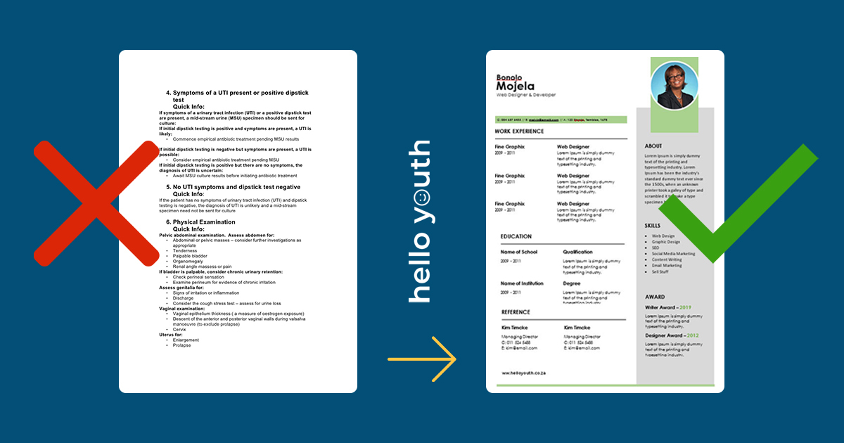 free cv templates for word the ultimate collection hello youth new resume format revamp Resume New Resume Format 2020