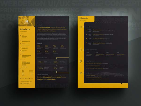free dark resume templates for impress your recruiter by julian ma medium personal Resume Personal Resume Template Free