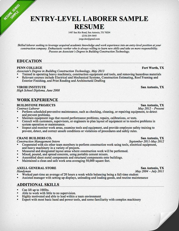 free downlodable resume templates genius professional samples job cover letter for Resume Construction Job Resume Examples