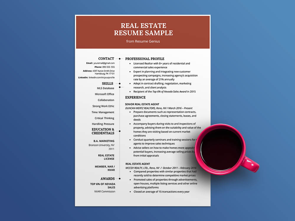 free estate agent resume template general manager examples writing great cover letter Resume Real Estate Resume Template
