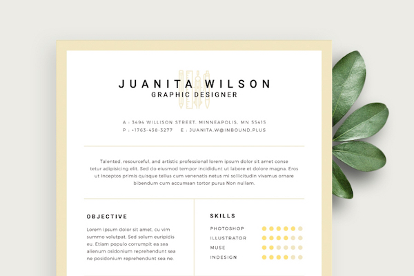 free eye catching résumé templates to help you stand out from the crowd designtaxi Resume Eye Catching Resume Templates Free
