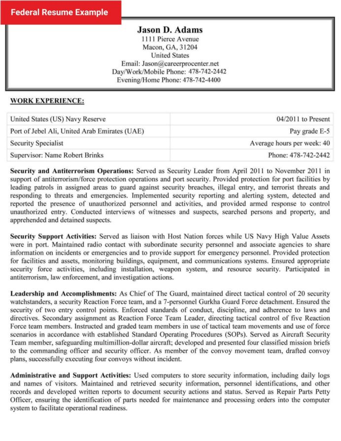 free federal resume samples more writing tips careerpro style sample example objective Resume Federal Style Resume Sample