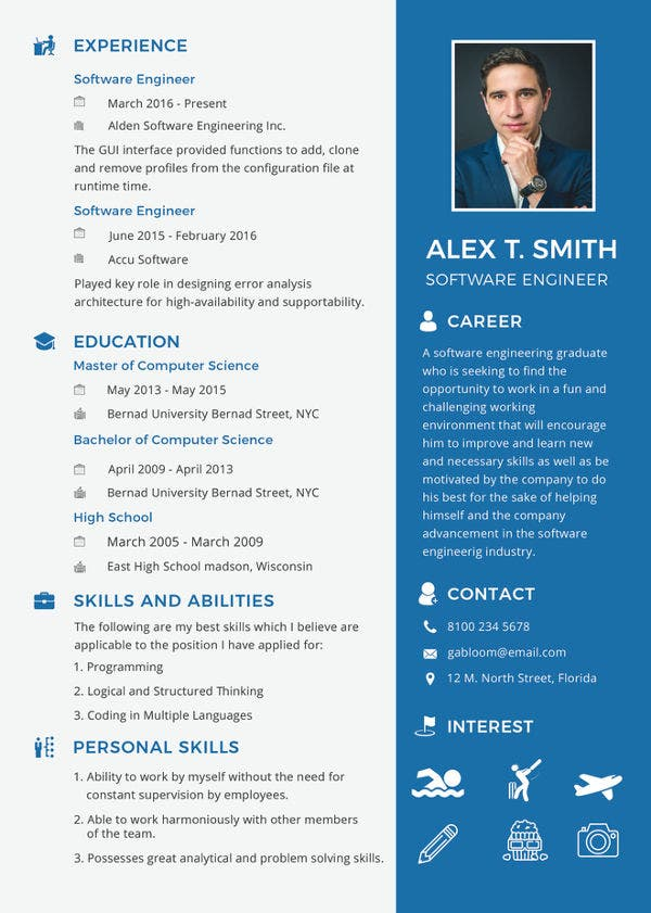 free fresher resume templates premium mca format for software engineer template perfect Resume Mca Fresher Resume Format Free Download