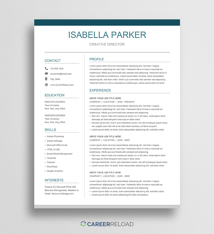 free google docs resume template career reload best chemistry tutor customer service Resume Google Docs Best Resume Template