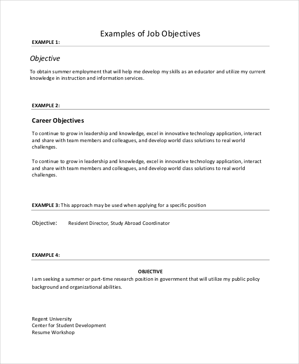 free job resume samples in ms word pdf part time template objective example2 all rounder Resume Part Time Job Resume Template