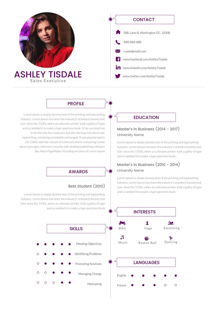 free mba executive resume cv template in photoshop micros creativebooster 740x1046 Resume Free Mba Resume Template