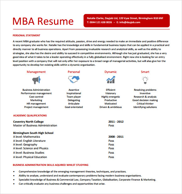 free mba resume templates in pdf template sample microsoft word objective on for nursing Resume Free Mba Resume Template