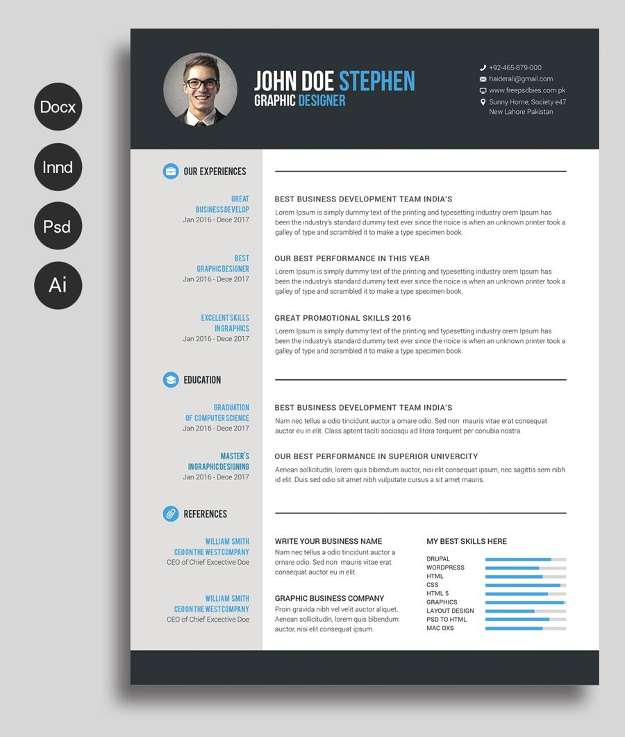free ms word resume and cv template design resources printable templates associate Resume Free Resume Templates