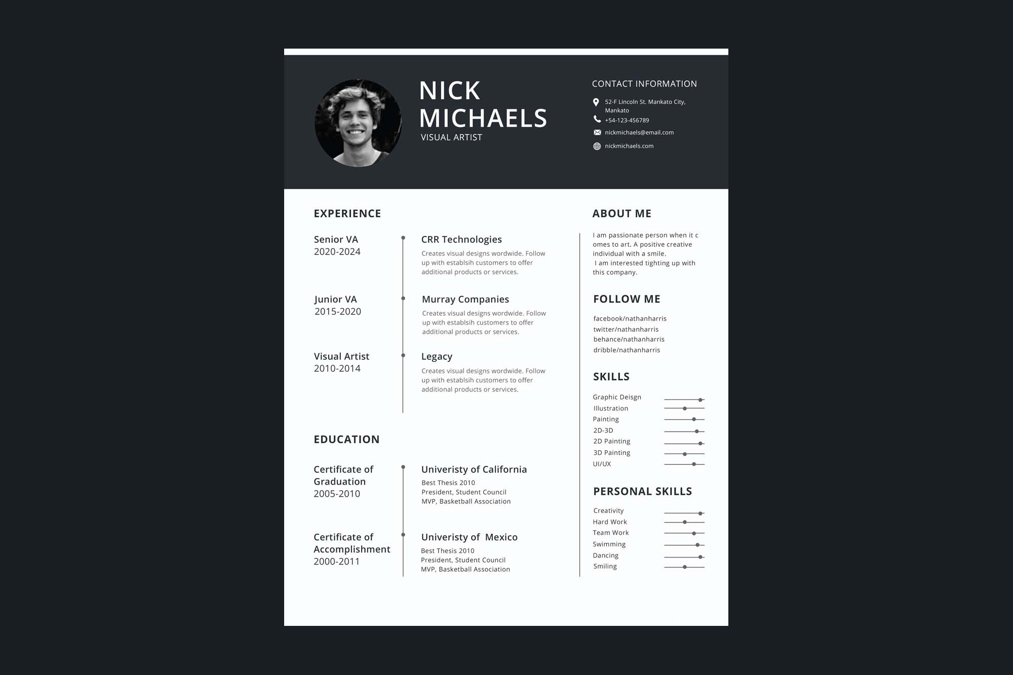 free one resume template format industry phd and cover letter words for led five feet Resume One Page Resume Format
