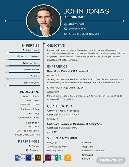 free one resume templates word indesign apple publisher illustrator template net format Resume One Page Resume Format