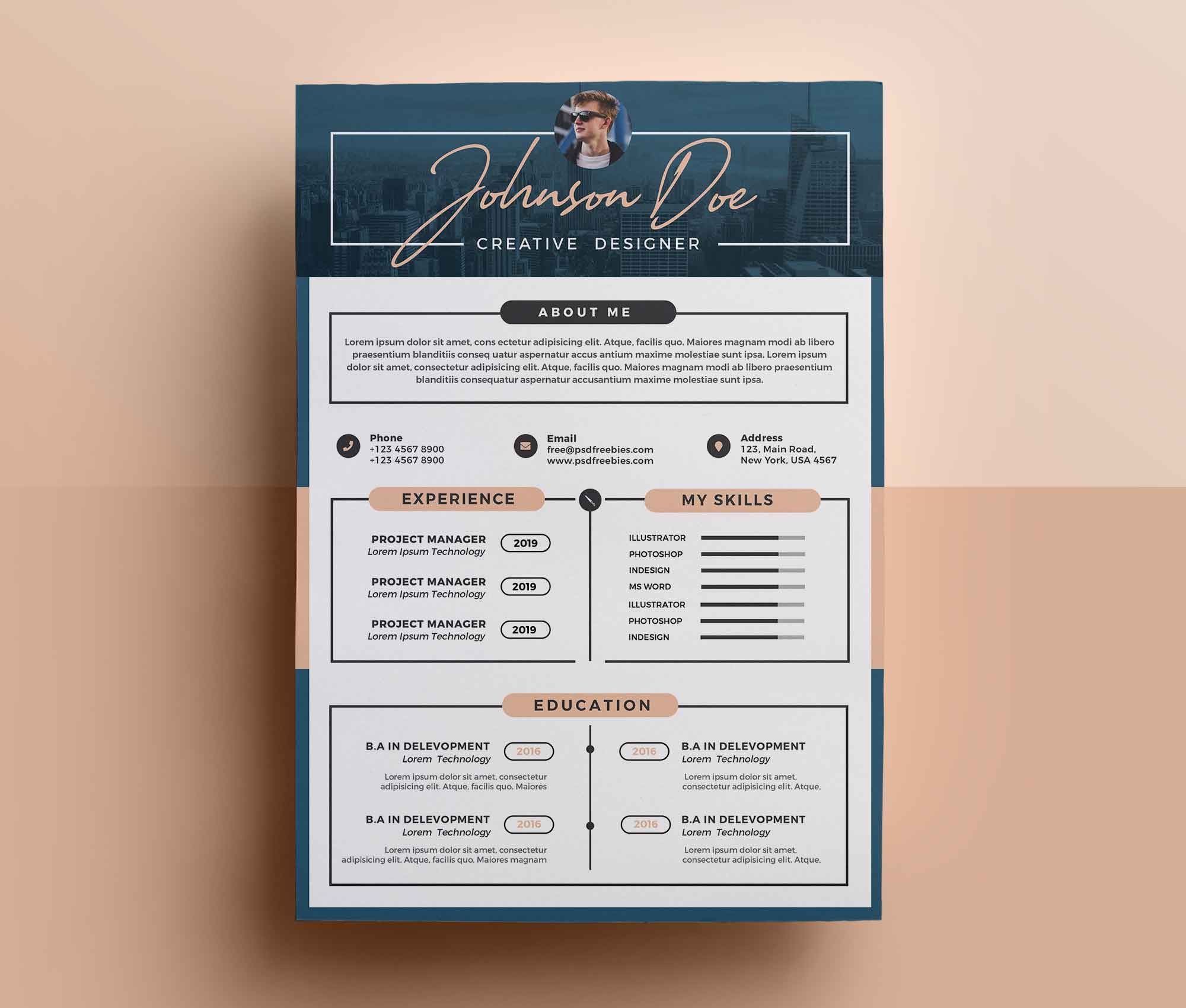free professional resume template design skill bars on cnc objective oil and gas planning Resume Professional Resume Design
