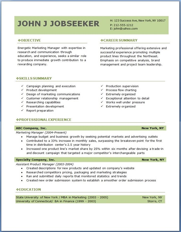 free professional resume templates downloads samples downloadable template job nickname Resume Free Job Resume Templates