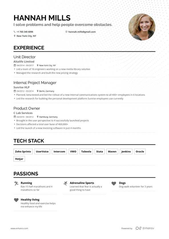 free resume builder enhancv to create for backpacker objective cruise ship concierge best Resume Where To Create A Resume For Free