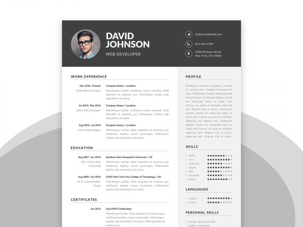 free resume cv templates in word format resumekraft template with cover letter 600x450 Resume Resume Format Template Free Download