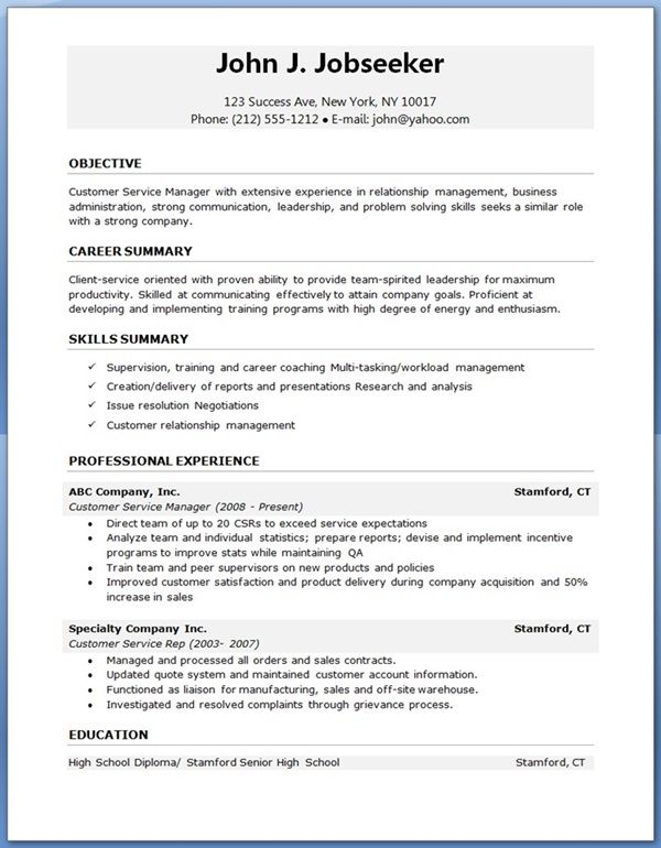 free resume job templates sample downloadable template professional format for garment Resume Professional Sample Resume Template