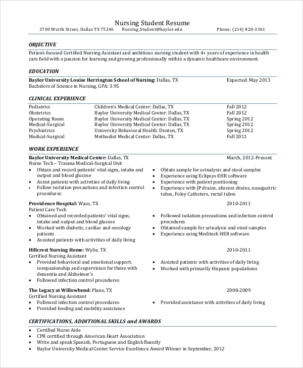 free resume objective samples in pdf ms word good objectives for healthcare nursing Resume Good Resume Objectives For Healthcare