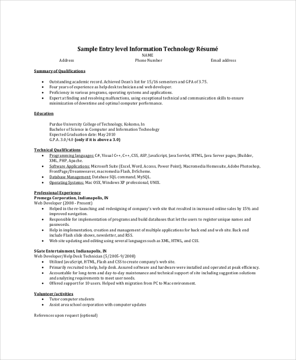 free resume summary samples in pdf ms word entry level example career examples finance Resume Entry Level Resume Summary