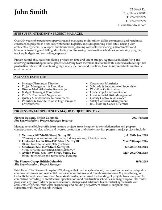 free resume templates project manager sample format customer service rep template Resume Canadian Resume Format Sample