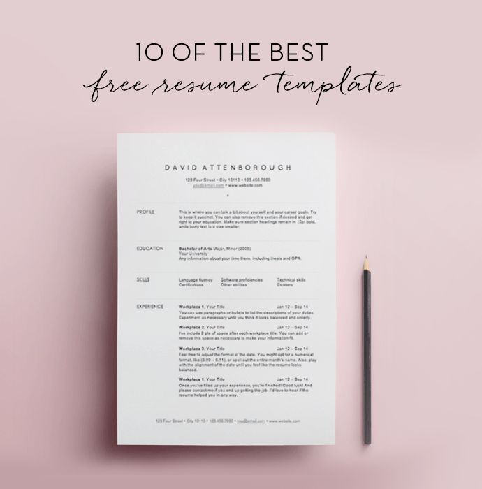 free resume templates template best millennial format personal chef objective team lead Resume Millennial Resume Format