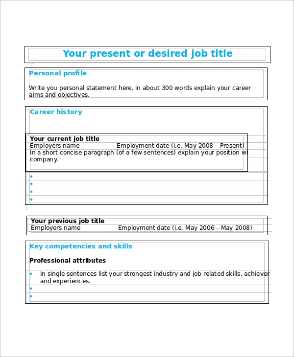 free sample blank resume templates in ms word pdf fill up form employment conducted Resume Free Resume Fill Up Form
