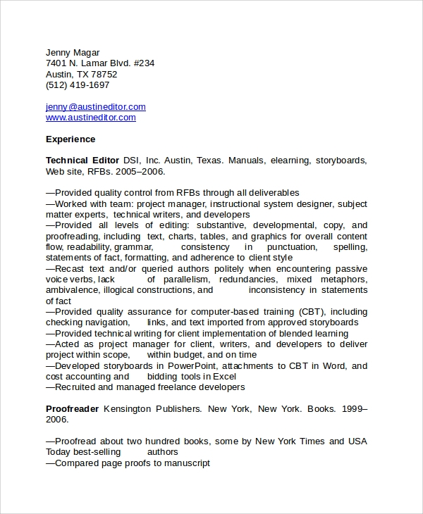 free sample copy editor resume templates in pdf ms word for editorial position freelance Resume Resume For Editorial Position