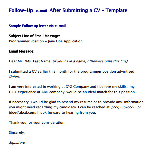 free sample follow up email templates in pdf after resume template cargill get reviewed Resume Follow Up Sample Email After Resume