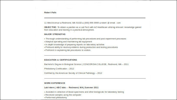 free sample medical technologist resume templates in ms word pdf laboratory design Resume Resume Templates Medical Laboratory Technologist