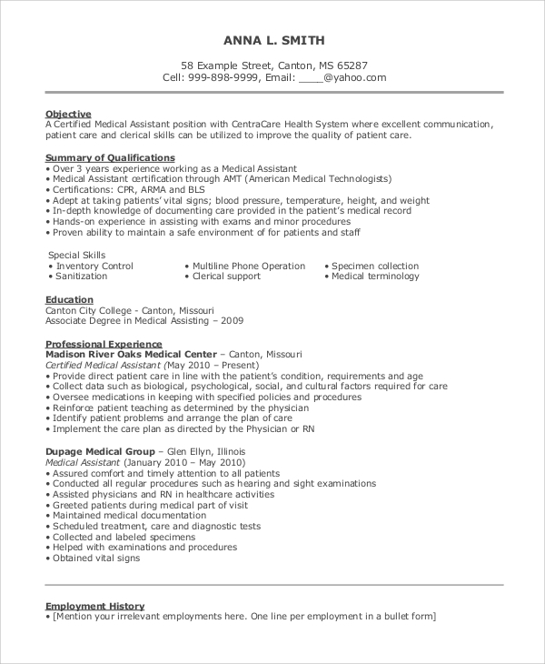 free sample objective for resume templates in ms word pdf good objectives healthcare Resume Good Resume Objectives For Healthcare
