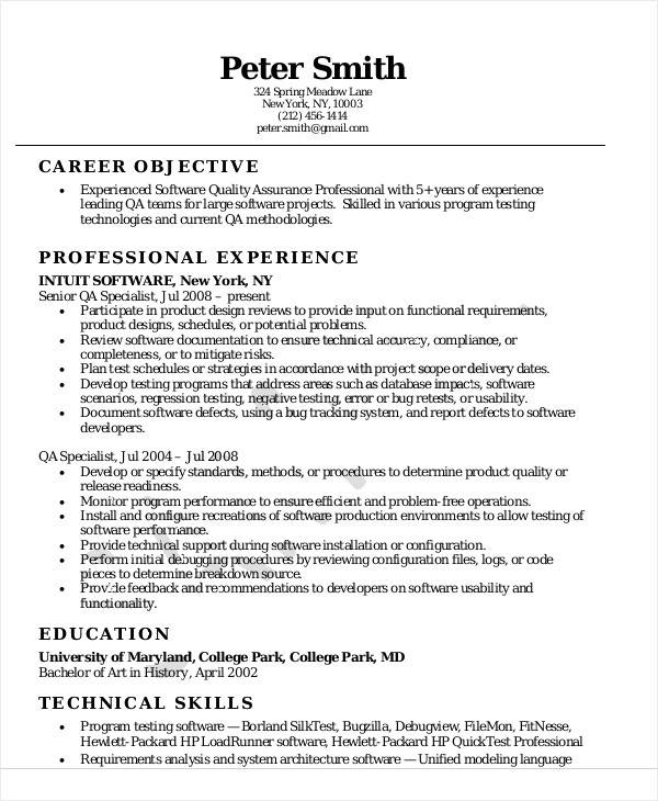 free sample quality assurance resume templates in ms word pdf software mystery shopper Resume Quality Assurance Resume Sample