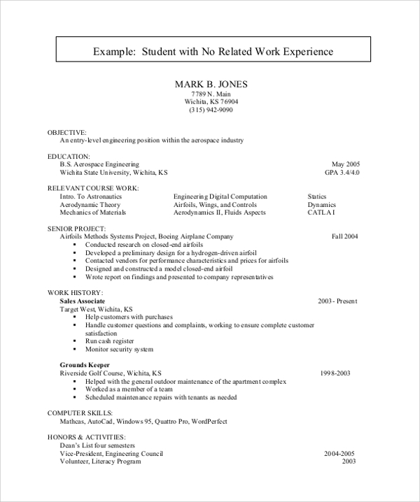 free sample resume for college student in ms word pdf students with no experience writing Resume Sample Resume For College Student