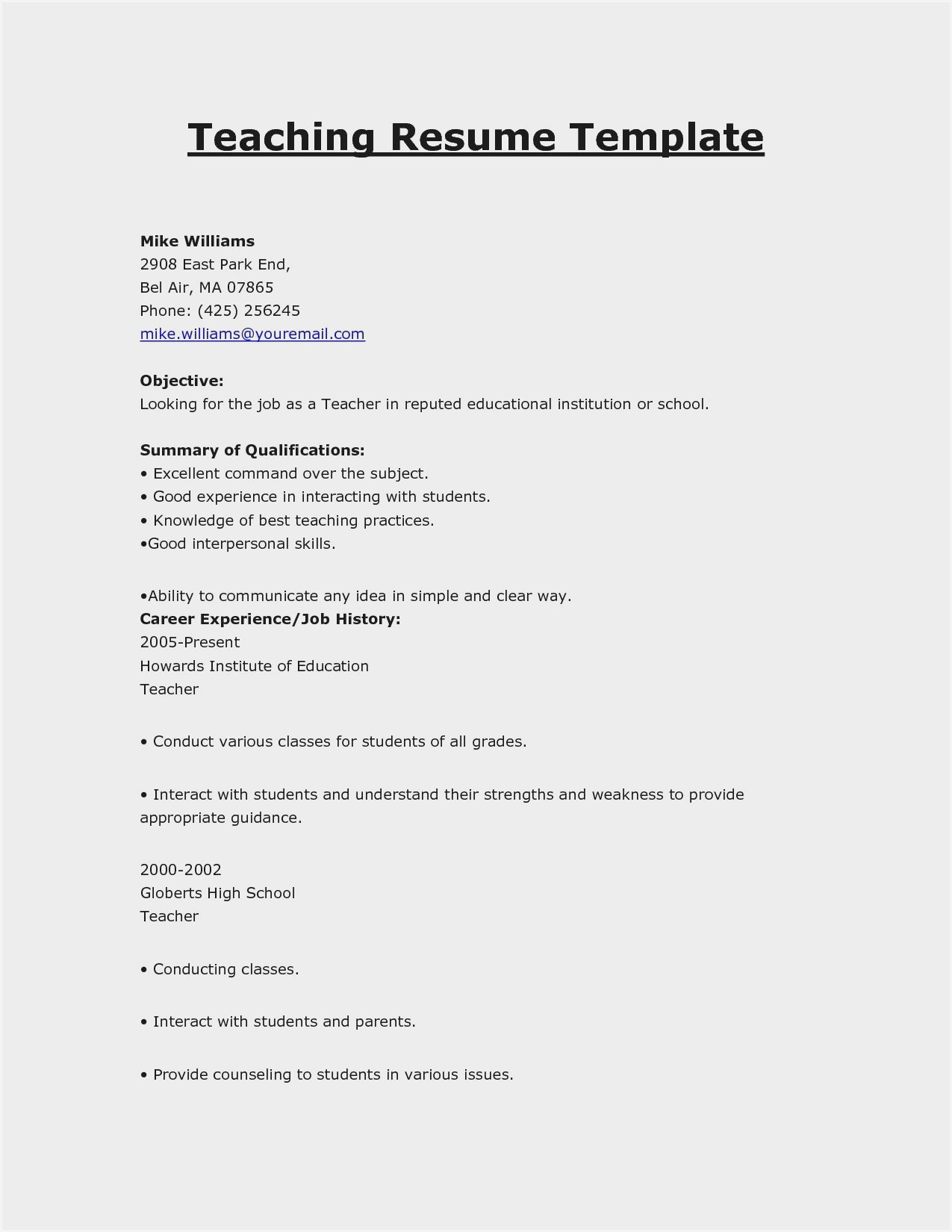 free sample resume for teachers pdf without experience completion engineer blank Resume Sample Resume For Teachers Without Experience