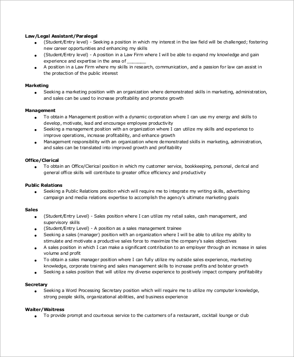 free sample secretary resume templates in ms word pdf objective for position machinist Resume Objective For Secretary Position Resume