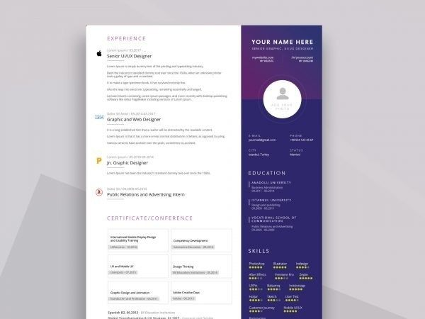 free simple resume cv templates word format resumekraft template downloadable for Resume Free Resume Templates 2020