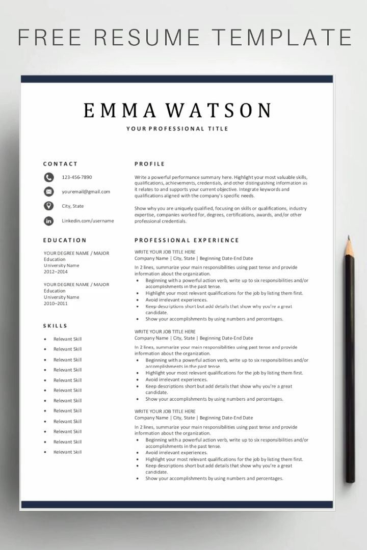 free simple resume templates template word editable pdf business operations specialist Resume Editable Resume Template Pdf