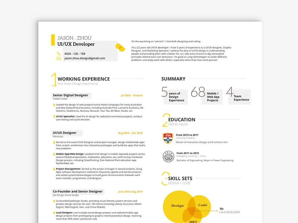 free ui ux resume template in sketch file format meaning of parse aerospace medical Resume Sketch 3 Resume Template