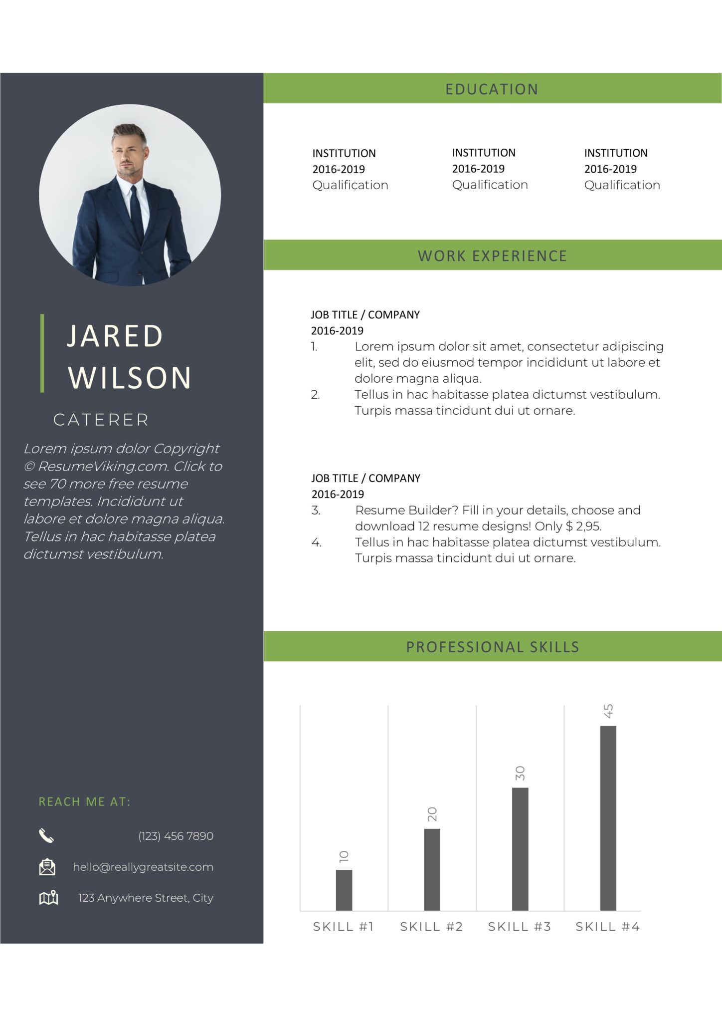 free word resume templates in ms microsoft template resumeviking scaled talent Resume Free Microsoft Word Resume Templates 2020