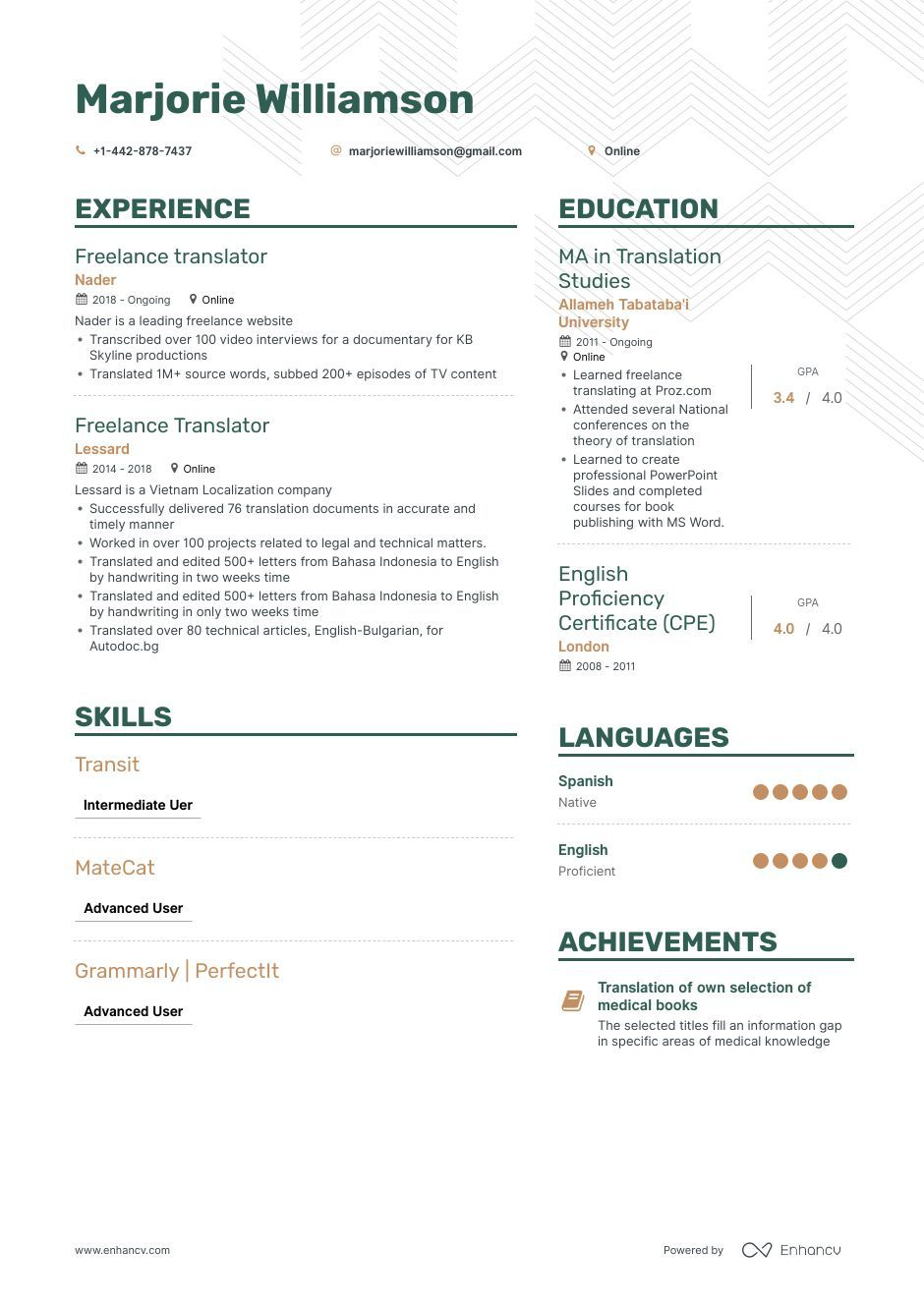 freelance translator resume example and guide for examples free job suggestions skills Resume Resume For Translator Job